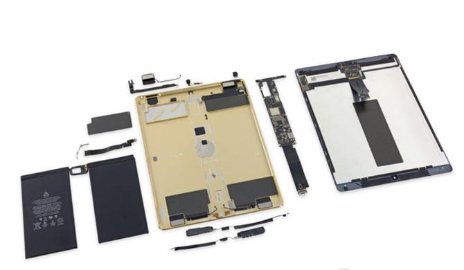 iPad Pro拆解 确认4GB内存10307mAh电池