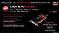 AMD推新专业卡FirePro W4300:竟是刀版