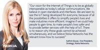 诺基亚呼吁各方联合开发物联网标准