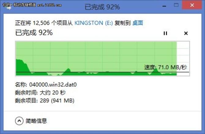 金士顿HyperX USB3.1 非一般的传输速度