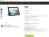 微软Surface 3限时促销 最高优惠1500元