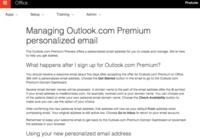 微软正在测试Outlook.com域名定制服务
