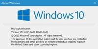 Win10 Build 10586.164更新 含移动端