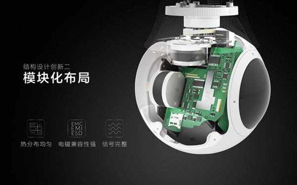 景阳发布300万迷你球摄像机