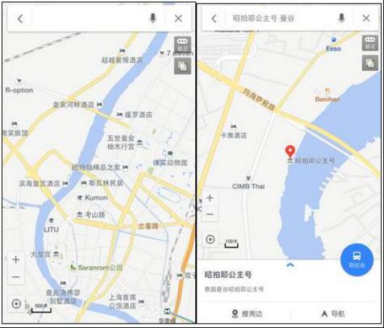 泰国版百度地图实测:数据丰富 路线精准