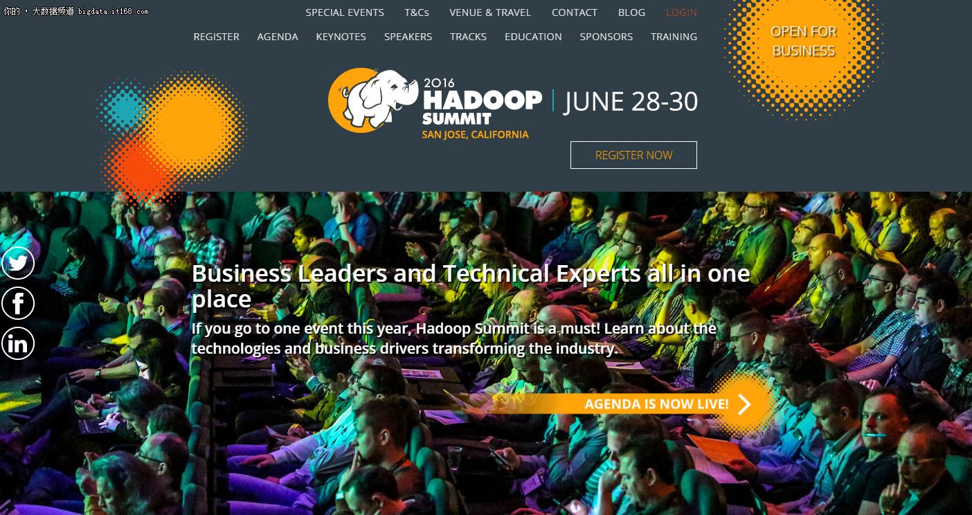2016圣何塞Hadoop峰会案例摘要