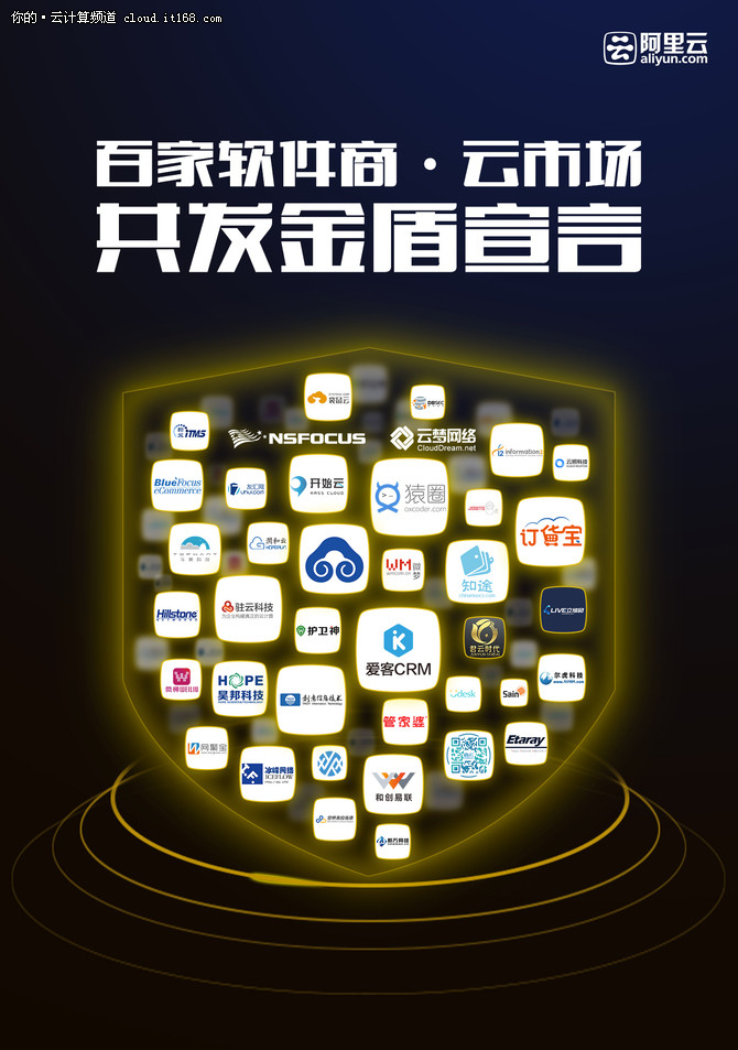 """阿里云联合百家软件厂商发""""金盾宣言"""""""