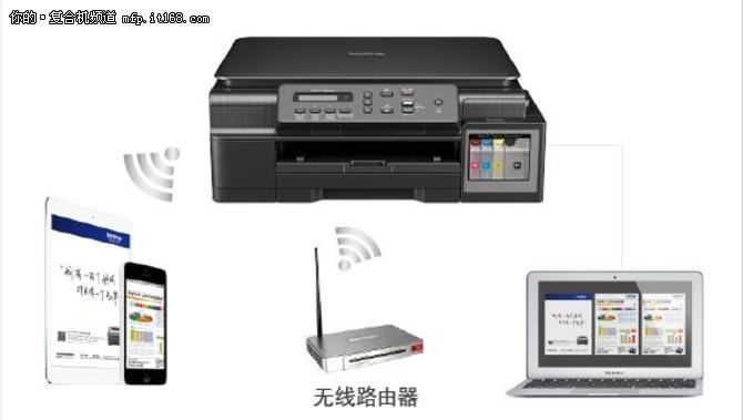 支持无线网络功能 兄弟DCP-T500W一体机