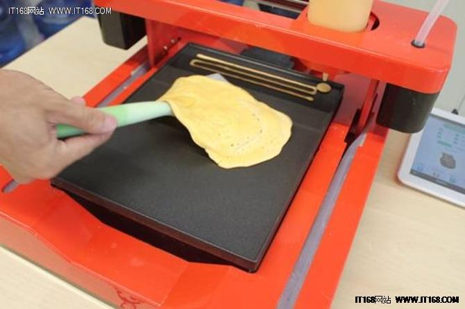 用三弟画饼机打印3D煎饼