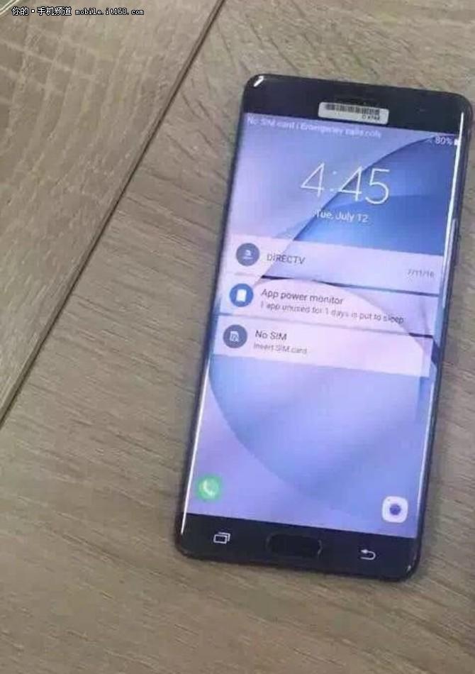 双曲屏+4GB内存 8月19日三星Note 7开卖