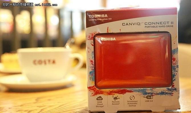 多种防震设计 东芝 V8 CANVIO移动硬盘