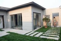 又1栋3D打印别墅亮相山东滨州 无一块砖