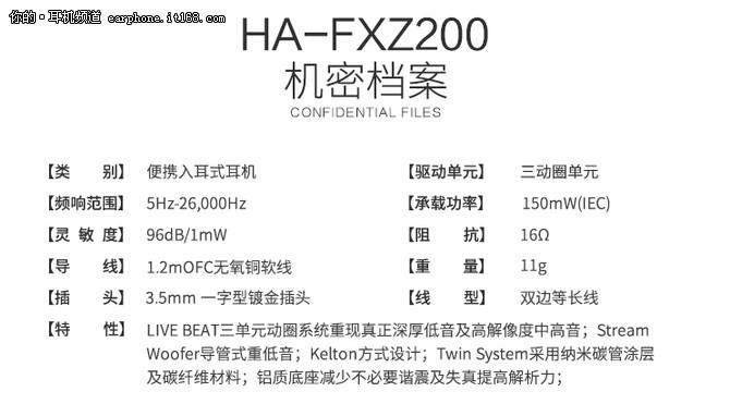 重低音三单元HIFI JVC FXZ200仅1299