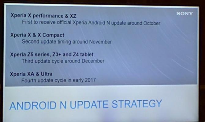 索尼公布安卓7.0升级方案 最快下月推送