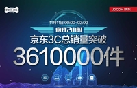 361万件 京东3C双11疯狂2小时战绩辉煌