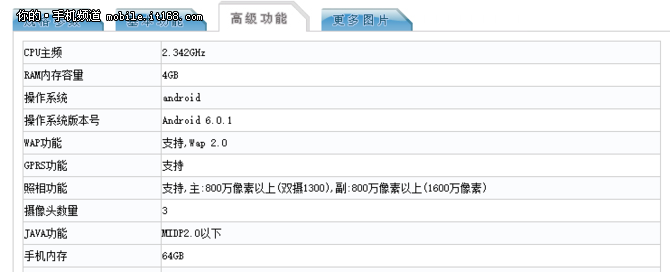 全新双摄造型 乐Max3证件照公布