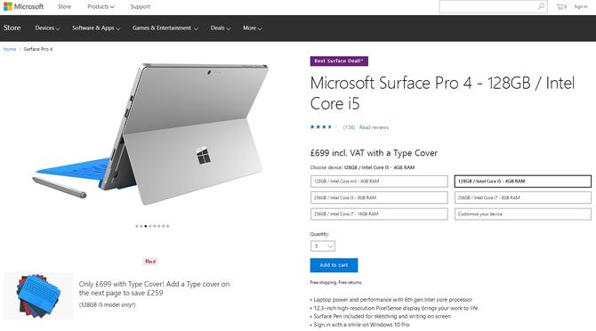 黑五促销!Surface Pro 4史上最猛降价