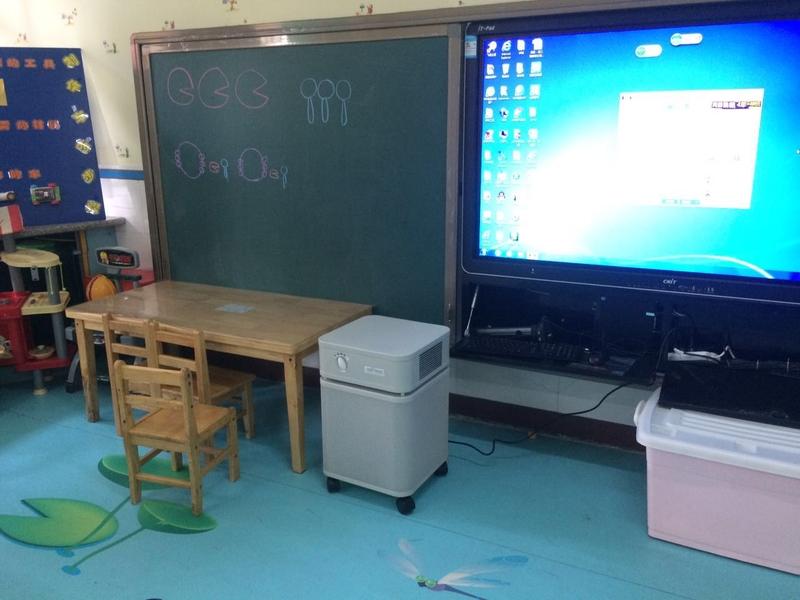 抵御雾霾众多学校安装奥司汀空气净化器