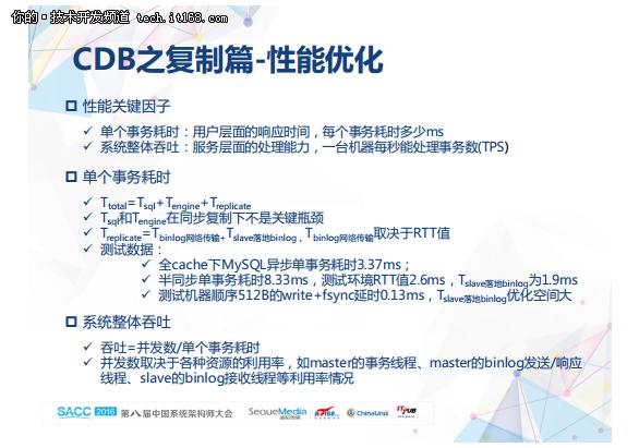 程彬:腾讯云数据库CDB技术演进之路