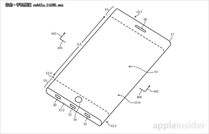 新专利曝光 新iPhone有望采用曲面屏幕