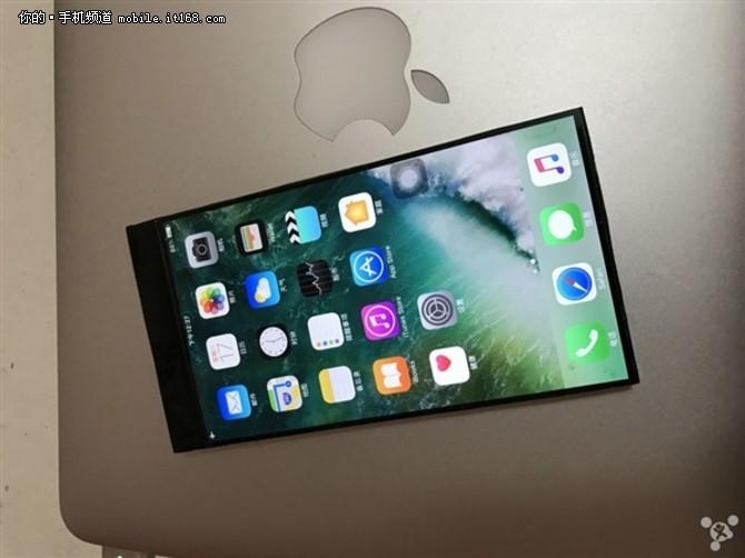 苹果看了感动哭 网友自制全面屏iPhone