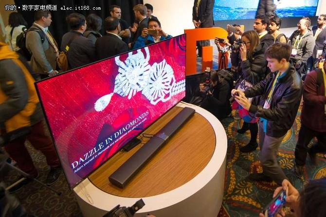 小米电视4 CES首发 无边框+杜比全景声