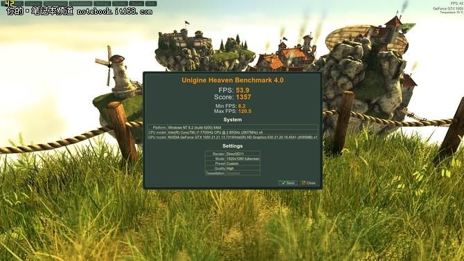游戏测试:GTX1050表现出众