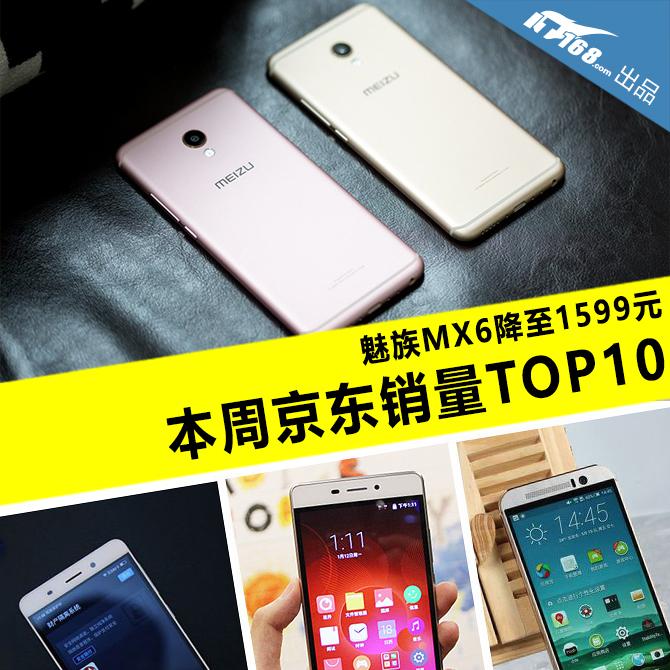 魅族MX6降至1599元 本周京东销量TOP10