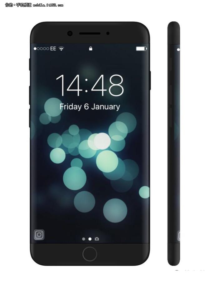 双曲面高颜值 iPhone8最新渲染图曝光