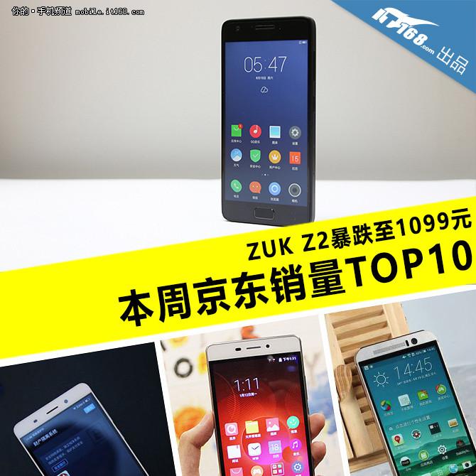 ZUK Z2暴跌至1099元 本周京东销量TOP10