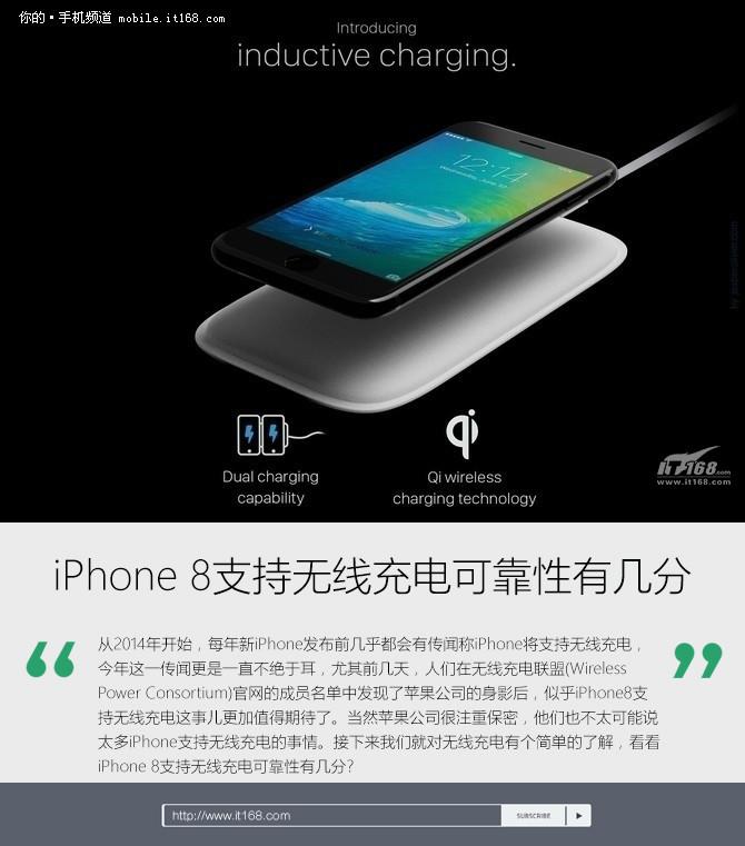 iPhone 8支持无线充电可靠性有几分