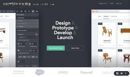 视觉设计和原型;添加交互无需离开体验设计,并在桌面和移动设备上实时