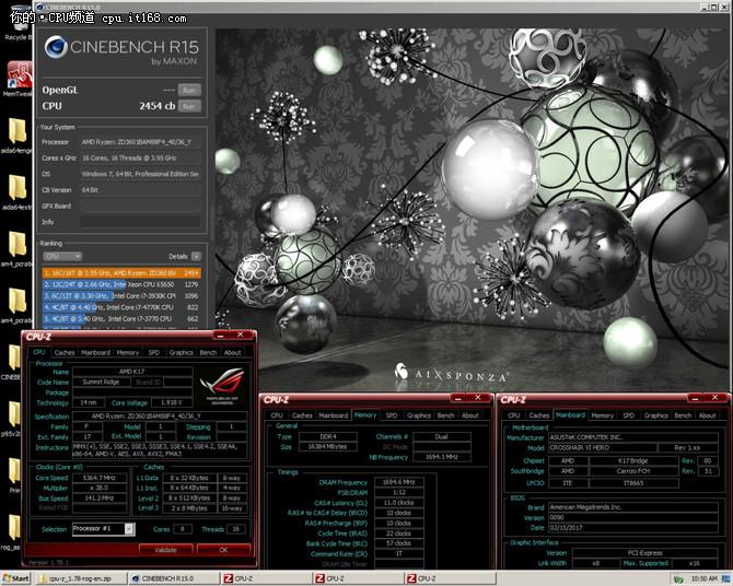 最高5.8GHz Ryzen 7 1800X超频破纪录