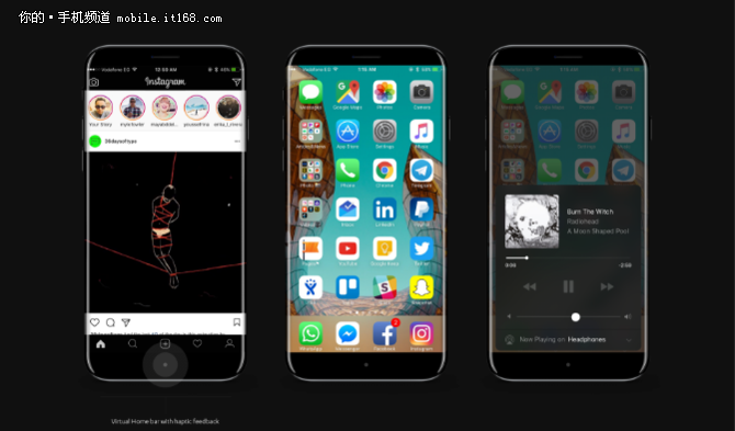 高屏占比+曲面屏 iPhone 8外观就这样了