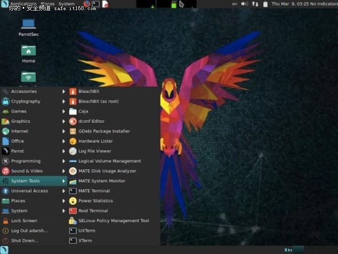竞争Kali Linux 安全系统Parrot3.5发布