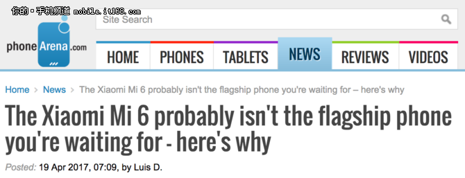 外媒:小米6不是你想要的旗舰手机