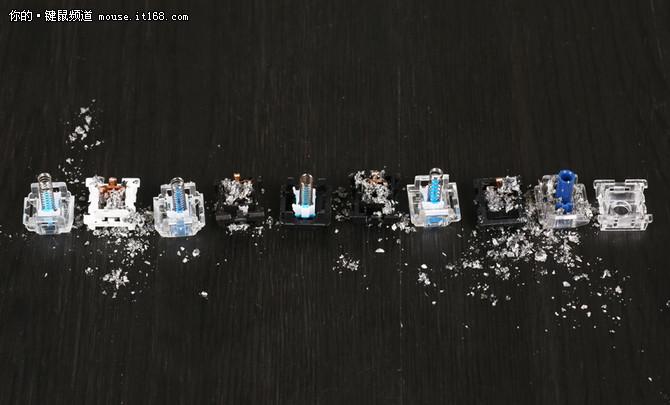 防尘轴体哪家强?五种轴体防尘对比测试