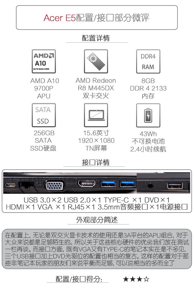 这台本很全能 微评宏碁E5全能大屏本