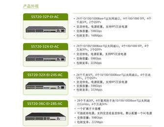 华为S5720-EI系列下一代增强型千兆以太网交换机