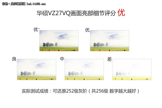 华硕VZ27VQ曲面显示器画质评测