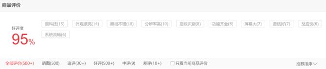 扒一扒网络晒单:索尼XZP京东好评率95%