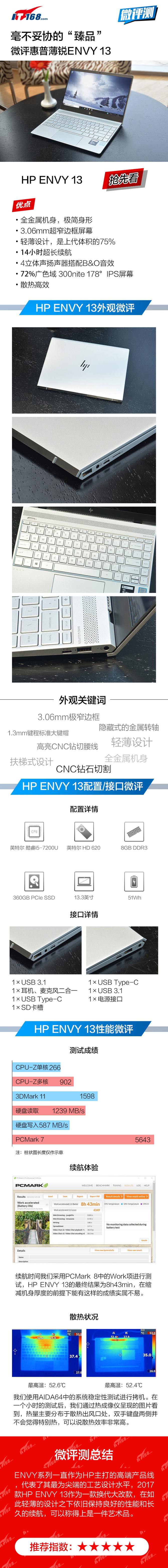 """毫不妥协的""""臻品""""微评HP ENVY 13"""