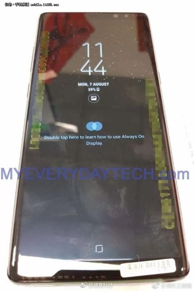 三星Note8真机曝光 曲面屏弧度更大