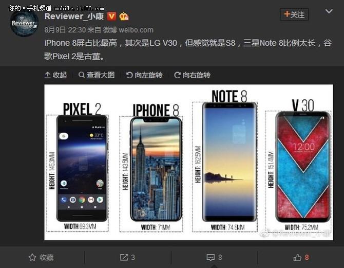 三星Note8被曝有8种配色可选