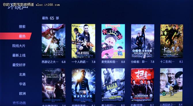 TCL P6超清薄电视资源内容评测