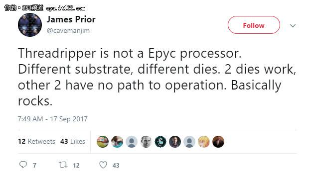 AMD官方澄清Threadripper不能开核