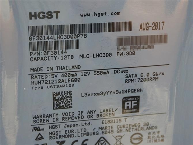 全球首款12TB硬盘开卖:HGST出品