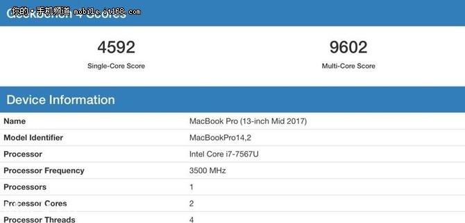 苹果A11芯片跑分曝光 性能追平苹果笔电