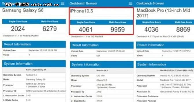 苹果A11跑分曝光 GPU性能炸裂 秒杀安卓