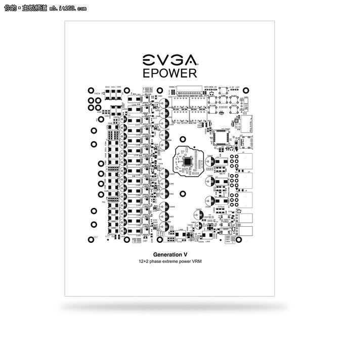 12+2极限供电 EVGA发布EPOWER V供电卡